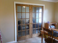 Remodel included French doors, tile flooring and painted room