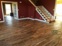 New laminate flooring throughout home
