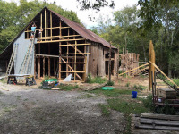 Construction on old barn underway